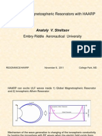 Excitation of Magnetospheric Resonators with HAARP