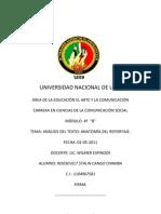 Anatomia Del Reportaje.