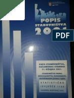 Knjiga popisa stanovnistva Hrvatske 2001 godine