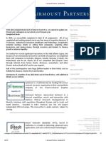 Fairmount Partners Update 2012