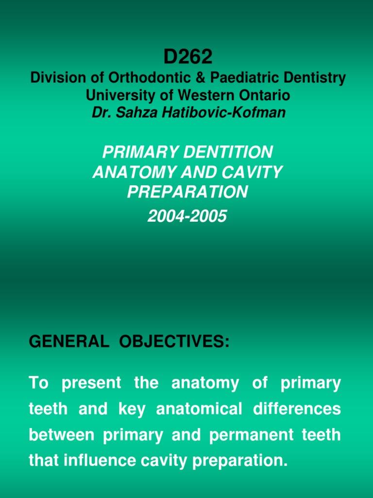 D262-Primary Dentition Anatomy.ppt | Dental Composite | Dentistry ...