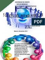 Presentación 5 leyes del poder popular genesis