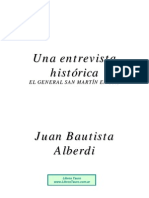 Alberdi, Juan Bautista - Una Entrevista Historica