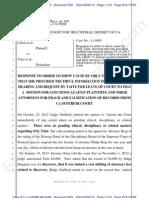 CDCA ECF 593 - Liberi v Taitz - TAITZ Response to OSC