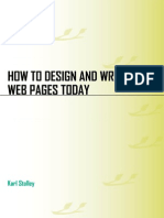 how to design and write a web pages