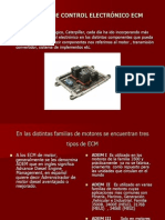 MODULOS DE CONTROL ELECTRÓNICO ECM
