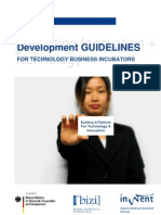 Development Guidelines for Technology Business Incubators