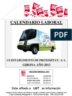 Calendario Laboral CS 2013 Girona