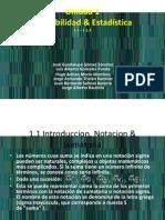 Unidad 1 Probabilidad & Estadistica, Industrial a Equipo 8
