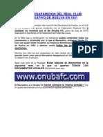 LA NO DESAPARICION DEL REAL CLUB RECREATIVO DE HUELVA EN 1931