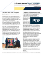 Chamber Voices Toastmasters Newsletter