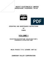 BFP BHEL Manual for 500MW