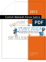 Contoh Makalah Karya Sastra bahasa Indonesia
