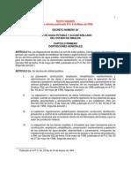 Ley de Agua Potable y Alcantarillado Del Edo de Sinaloa