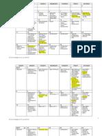 ADMU Calendar School Year 2012 to 2013