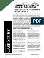waste fuel oxidizer hazards