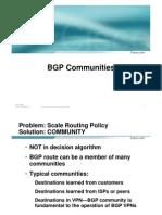 Cisco BGP Community