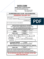 Entry Form - May 2013