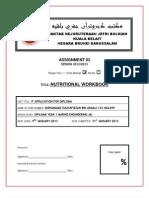 Nutritional Workbook Report