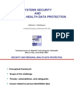 Security in health information systems