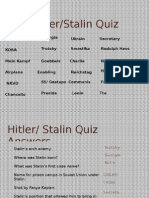 Hitler Stalin Quiz
