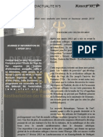 Arkéfact Bulletin Actualité 5