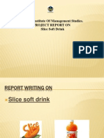 PROJECT REPORT ON  Slice Soft Drink