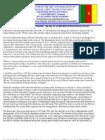 Consoldatng Cameroon's Unty