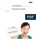 C&I Online Format Description