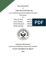 Fieldwork Report (Done 2007)