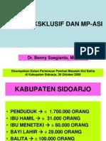 ASI, ASI EKSKLUSIF DAN MP-ASI