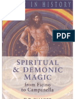 D. P. Walker, Spiritual and Demonic Magic from Ficino to Campanella