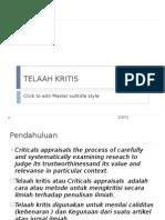 TELAAH KRITIS