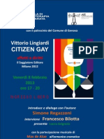 """PRESENTAZIONE DEL VOLUME DI VITTORIO LINGIARDI """"CITIZEN GAY"""""""