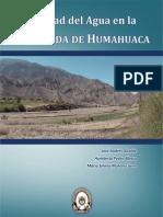 Calidad Del Agua en La Quebrada de Humahuaca