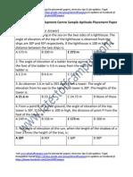 Amazon Development Centre Sample Aptitude Placement Paper Level1
