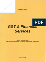 GST and Financial Services