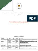 Parliament of Zimbabwe Portfolio Committee Meeting's 4-8 February 2013