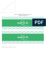 The Celebration Shoppe Mint To Be Friends Valentine ~ Free Printables