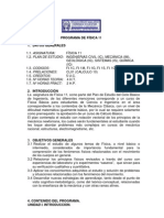 PROGRAMA DE FÍSICA 11