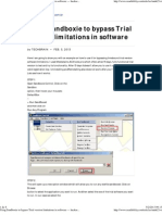 Using Sandboxie to Bypass Trial Version Limitations in Software