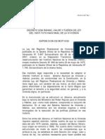 Ley de Reforma de la Ley del Instituto Nacional de la Vivienda (Inavi)