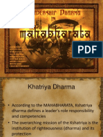 Leadership Dharma in Mahabharata