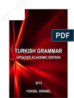 TURKISH GRAMMAR UPDATED ACADEMIC EDITION YÜKSEL GÖKNEL 2013-signed
