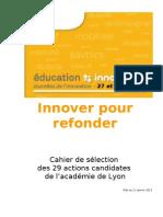 Cahier Selection Lyon 29janv2013