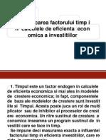Cuantificarea Factorului Timp-Coef