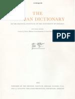 Dicionário Assírio - Volume XVI - S (Tsade)