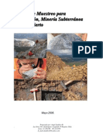 Manual de Muestreo Para la Exploración, Minería Subterránea y Rajo Abierto