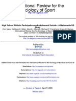 HIGH SCHOOL ATHLETIC PARTICIPATION AND