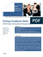 Giving Feedback Skills (Performance & Appraisal Management)